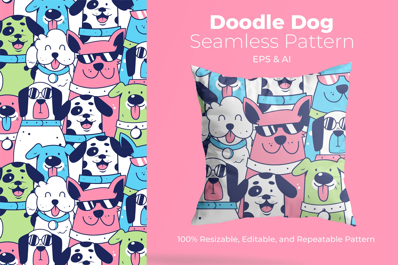 Doodle Dog-Pattern example image 1