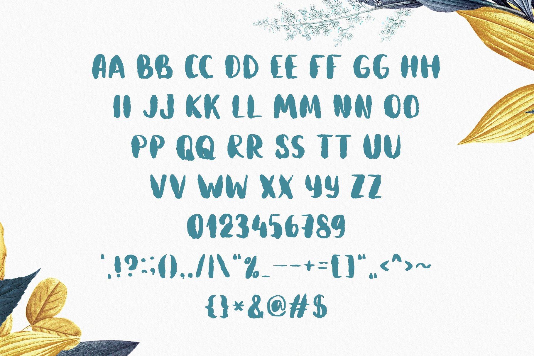 Aquatype. Display Watercolor font. example image 3
