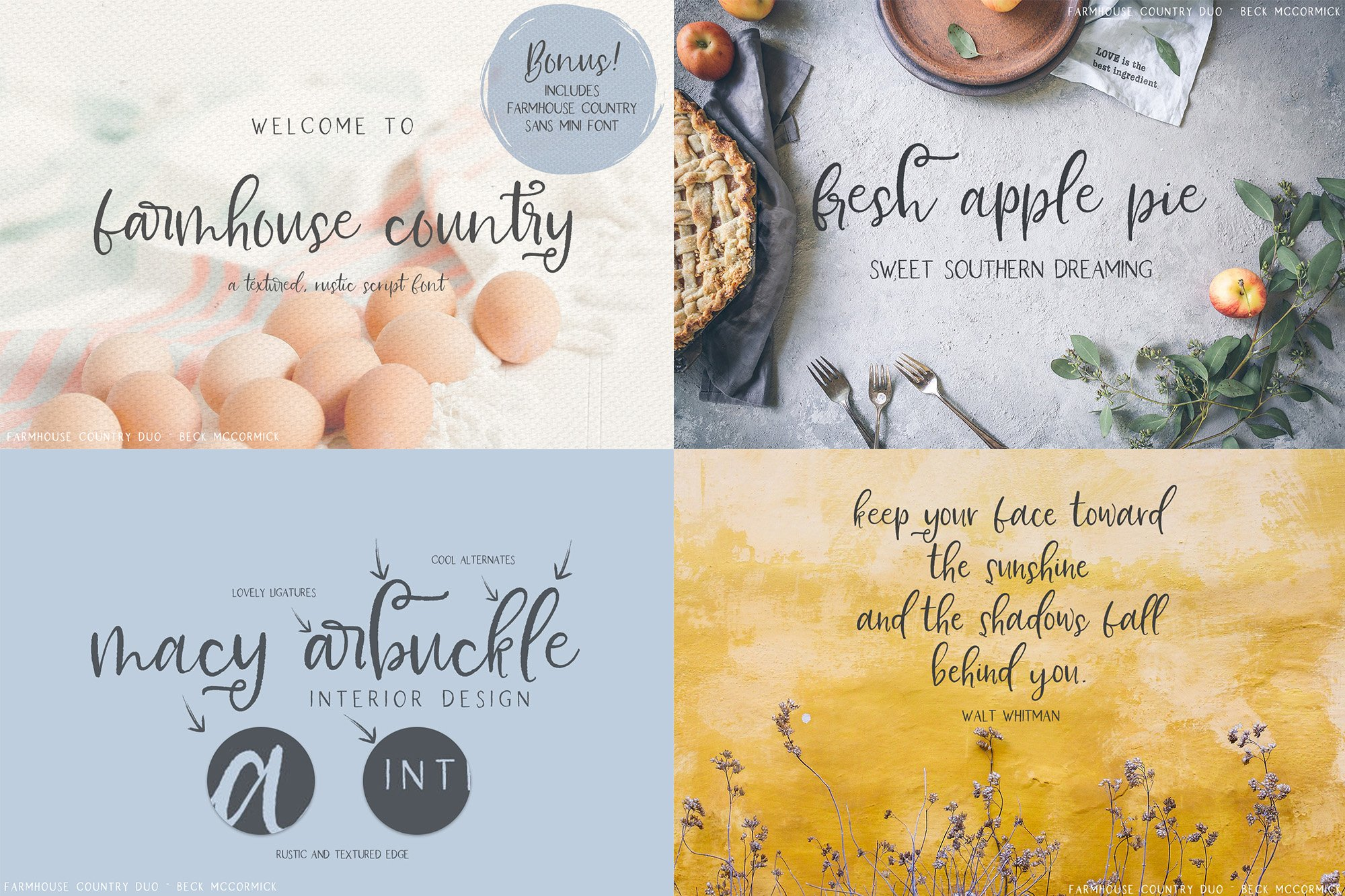 The Farmhouse Font Bundle by Beck McCormick example image 5