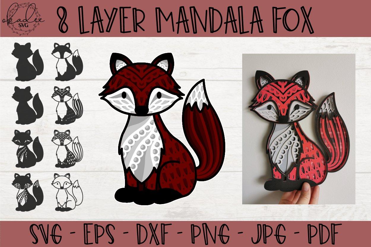 Download 3D Mandala Fox SVG, Layered Mandala SVG, Forest SVG, Fox ...