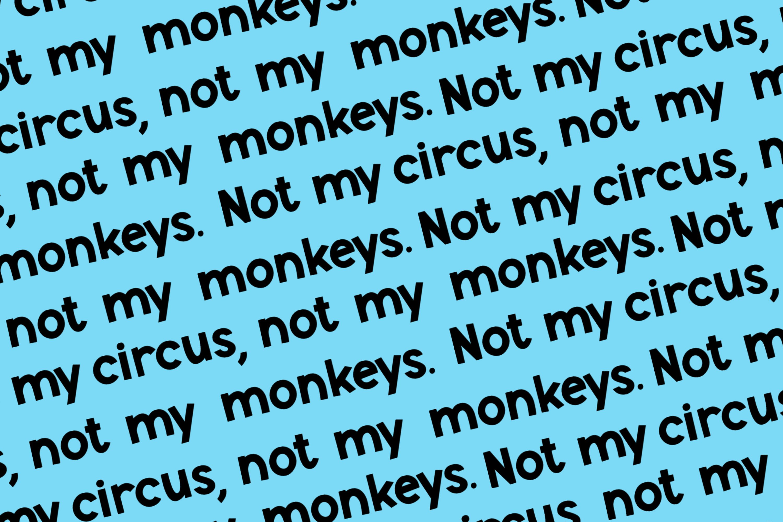 Monkey Mayhem - A fun and playful font example image 4