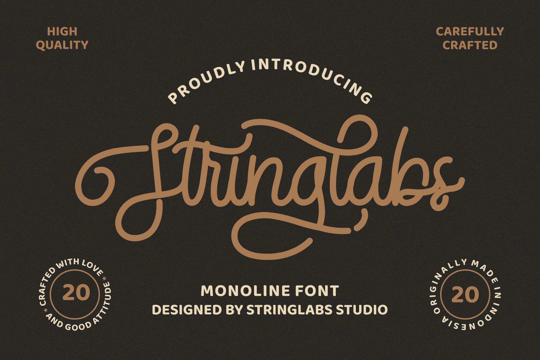 StringLabs - Monoline Retro Font example image 1