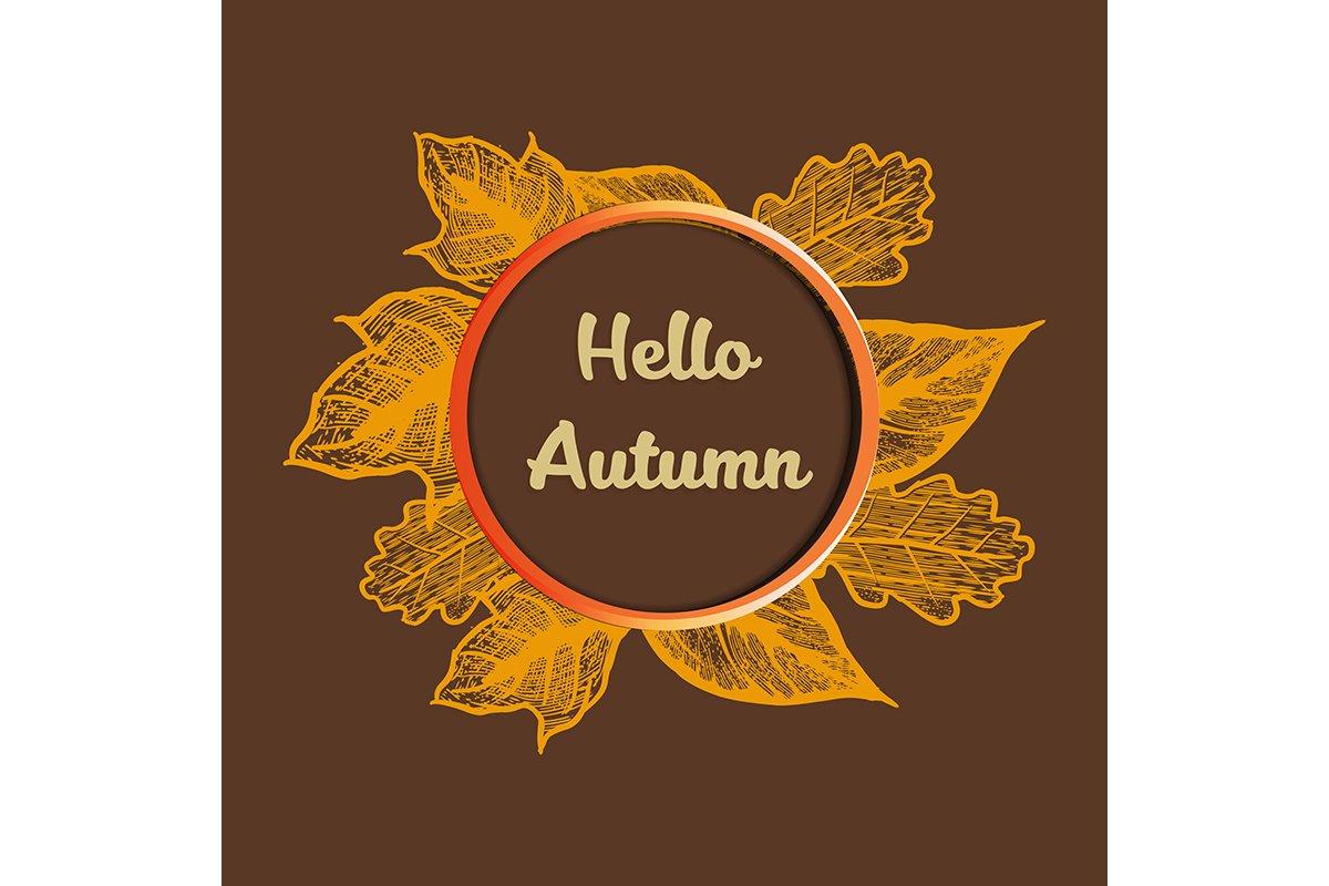Hello Autumn banner vector illustration example image 1