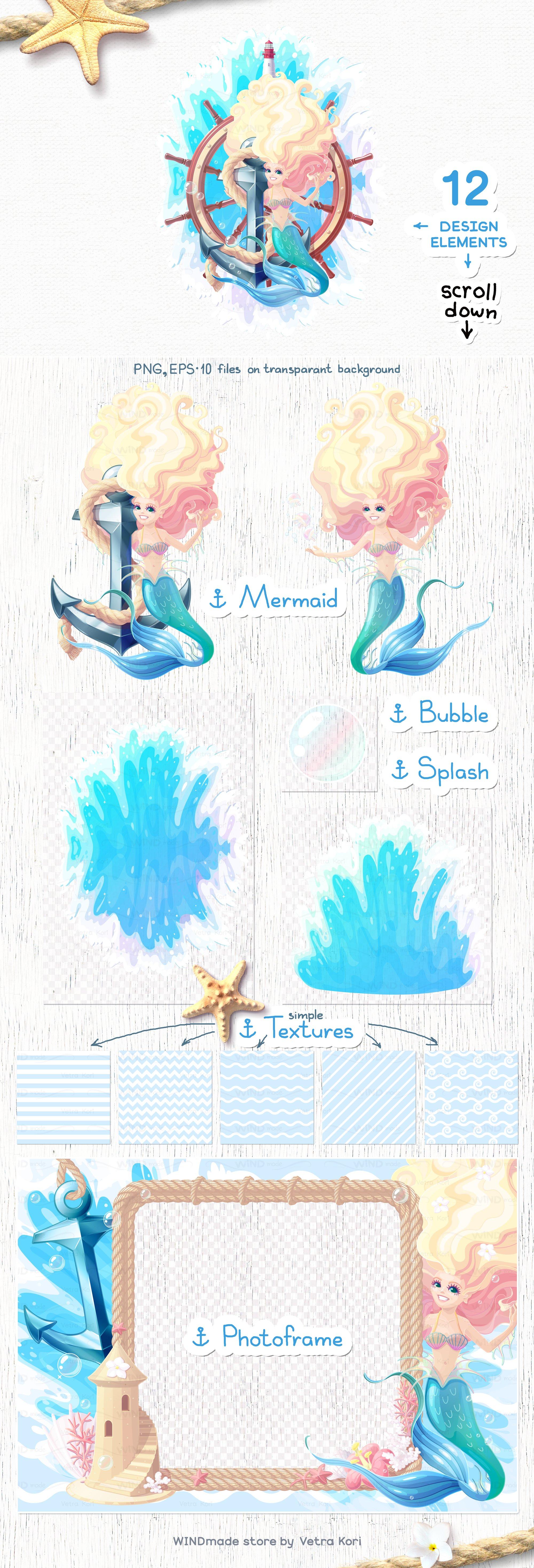 vector SET Sea mood example image 3