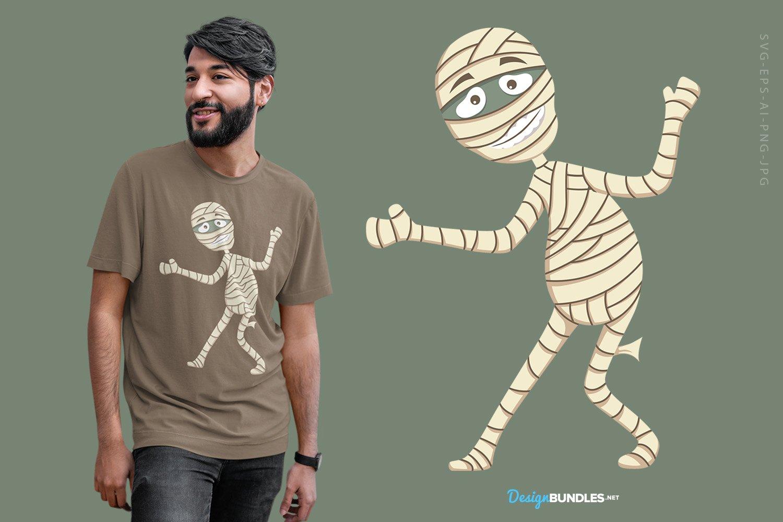 Smiling Mummy illustration example image 1