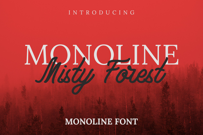 Monoline Misty Forest Font example image 1
