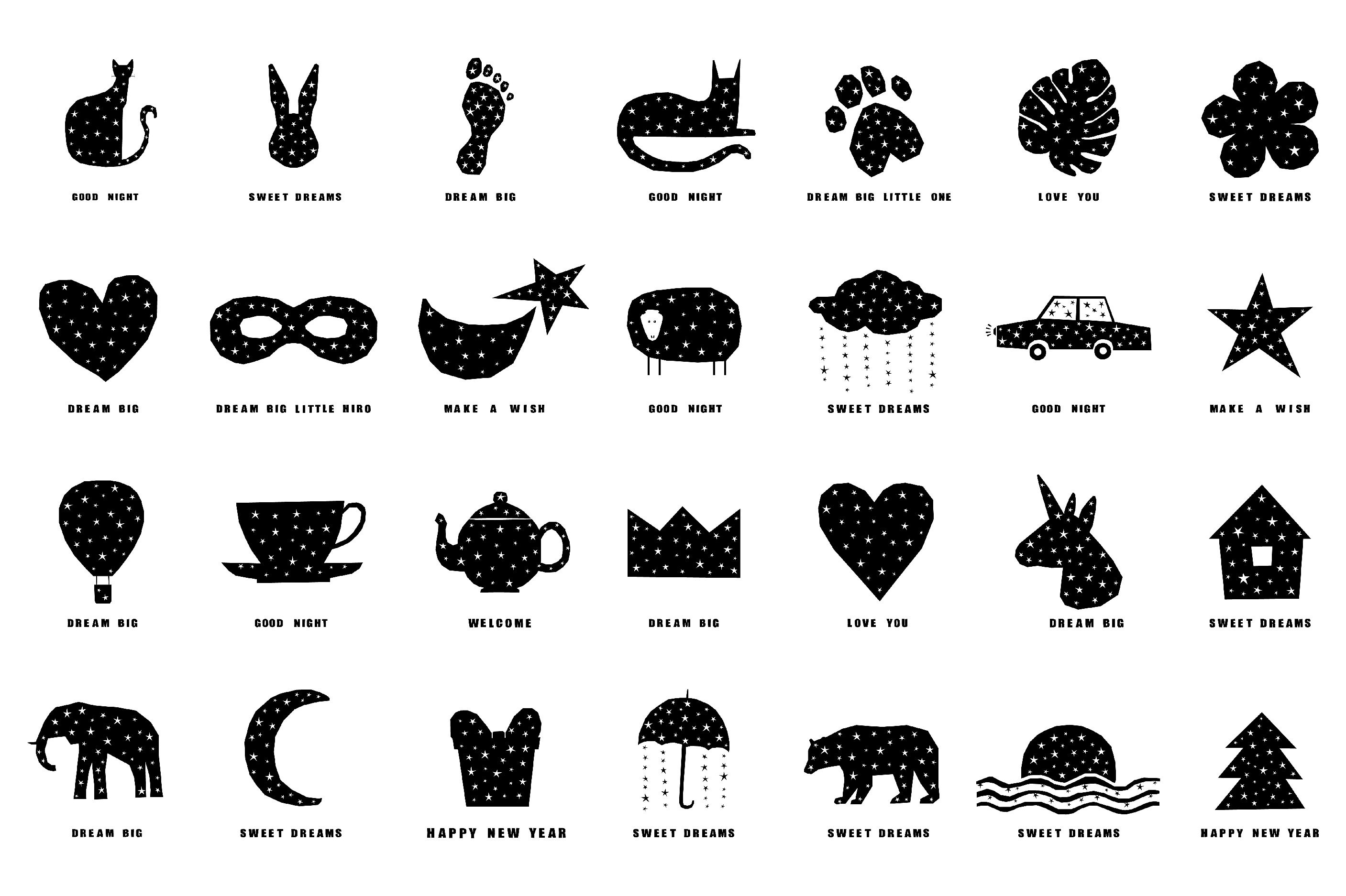 T shirt prints, childish collection. Digital patterns. example image 4
