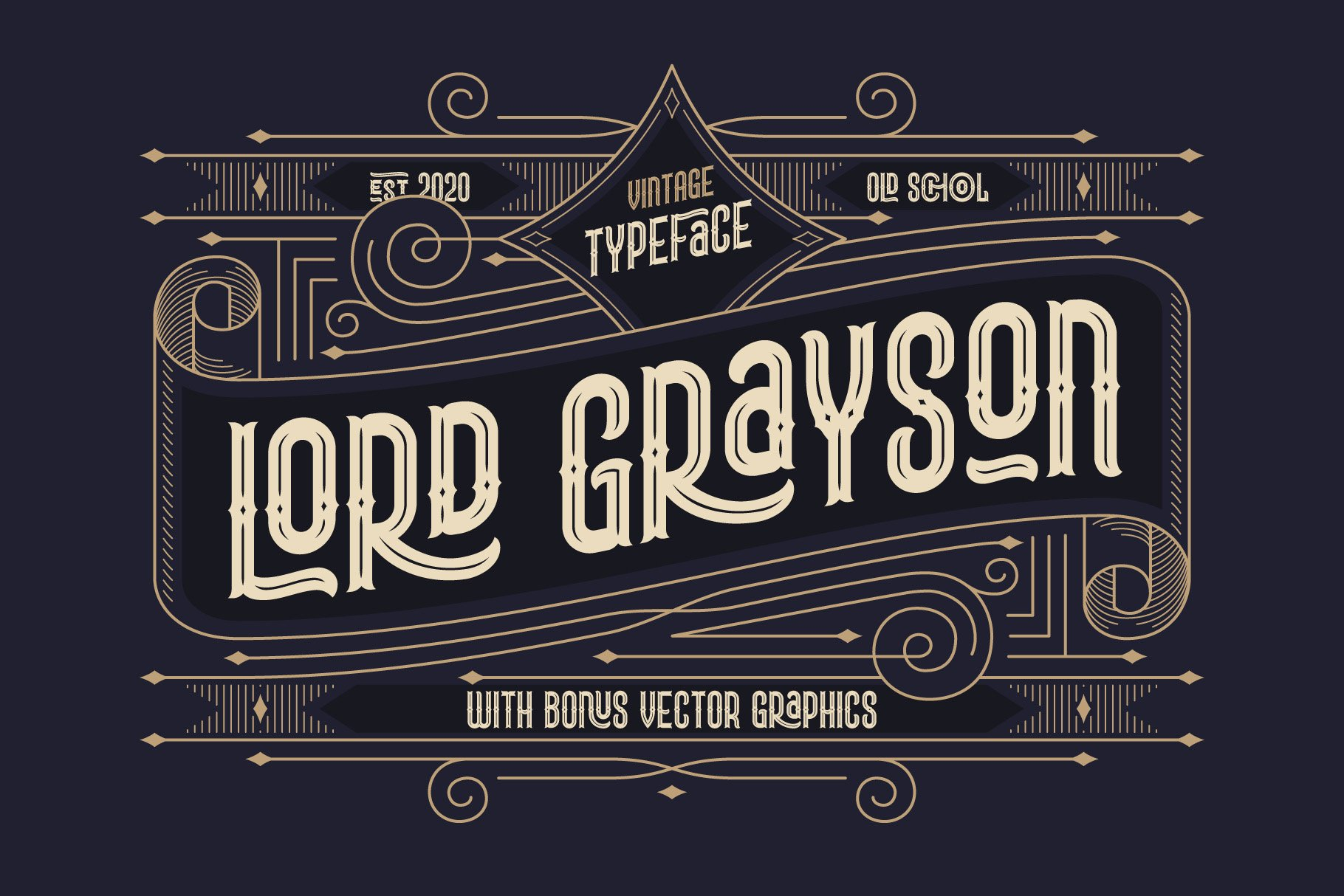Lord Grayson font and template example image 1