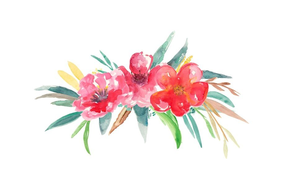 Emily Watercolors Flowers example image 3