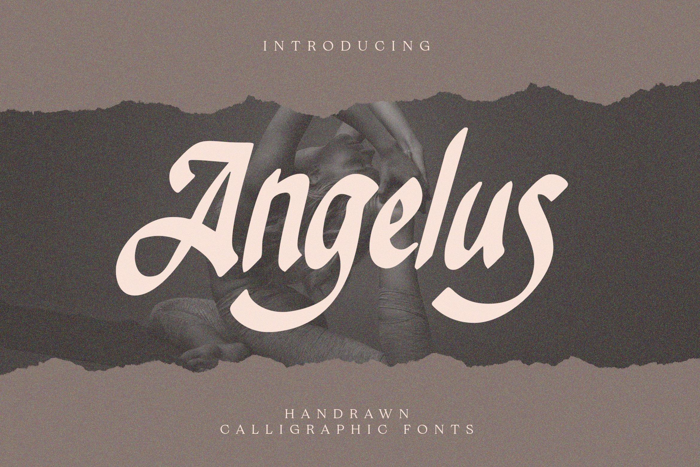 Angelus - Handrawn Calligraphic Font example image 1