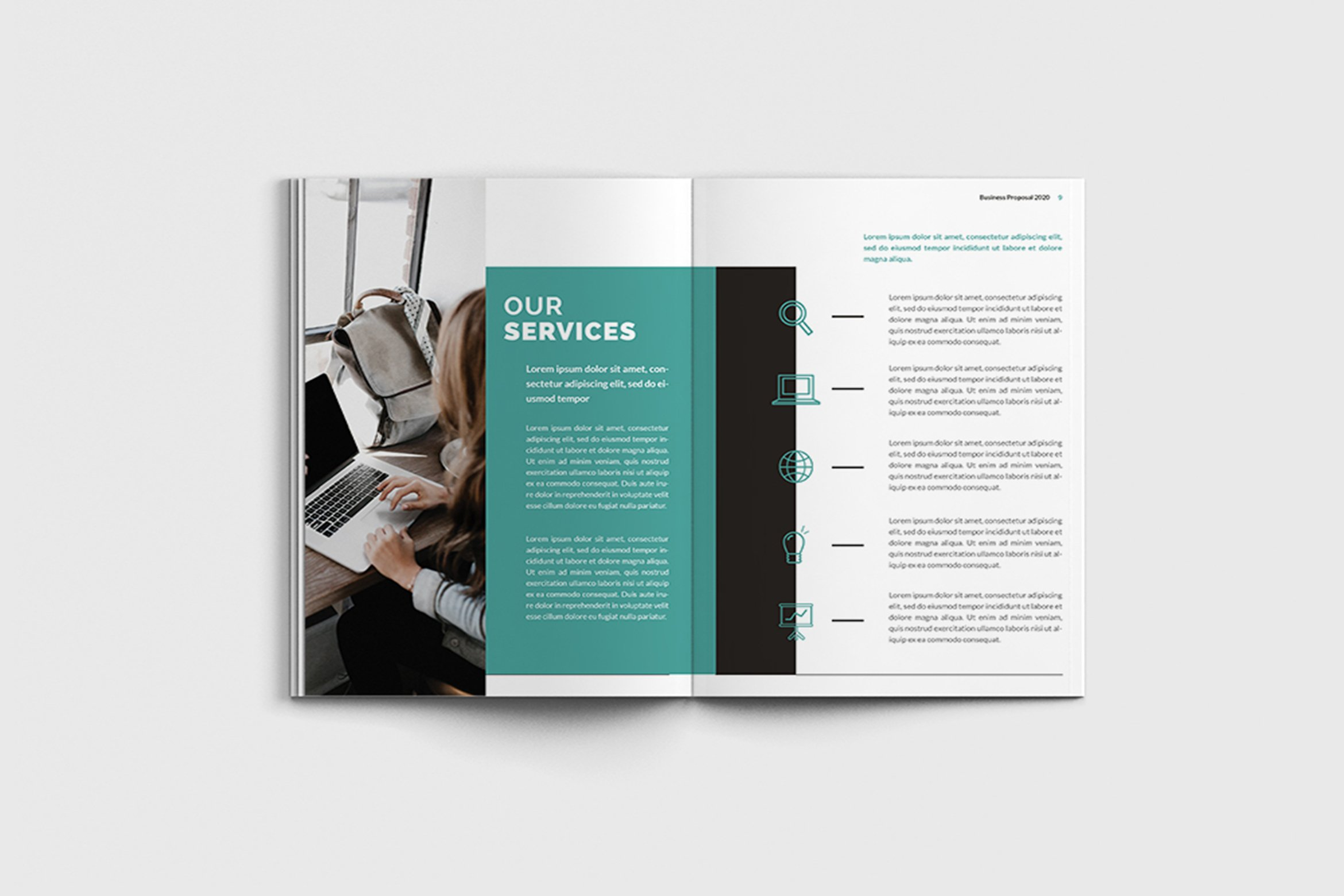 Mager - A4 Management Brochure Template example image 9