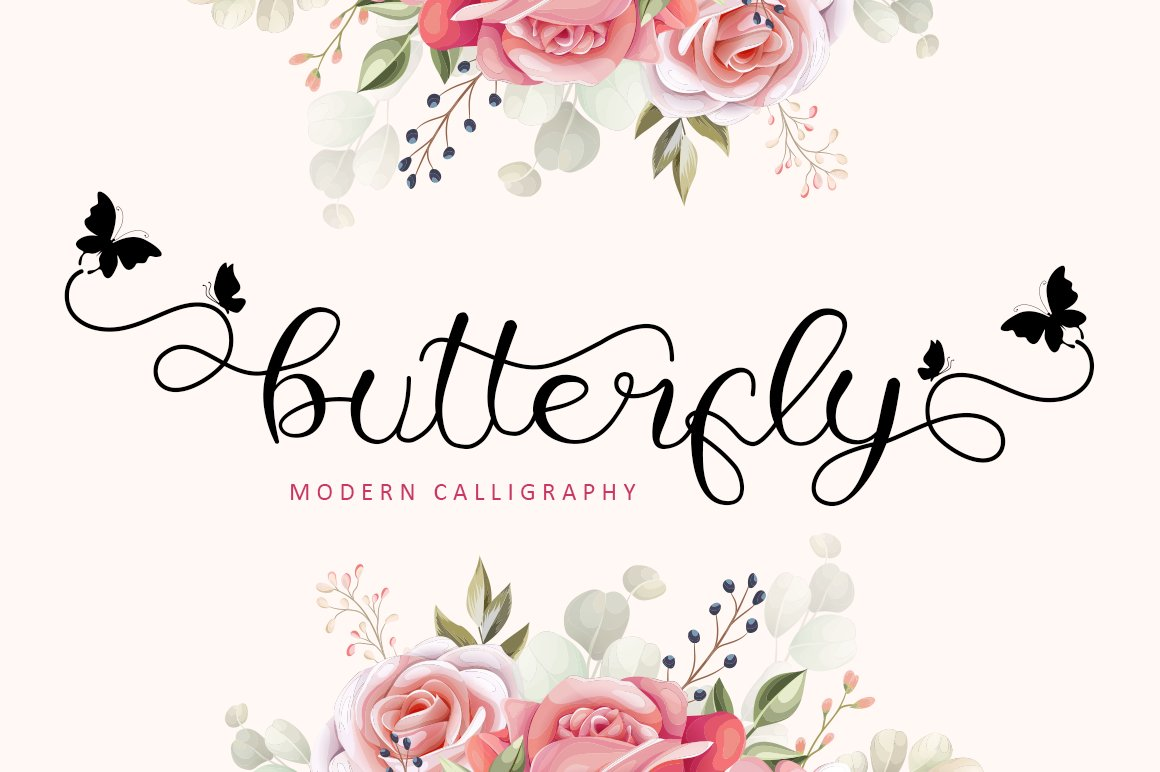 Butterfly - Modern Calligraphy example image 1