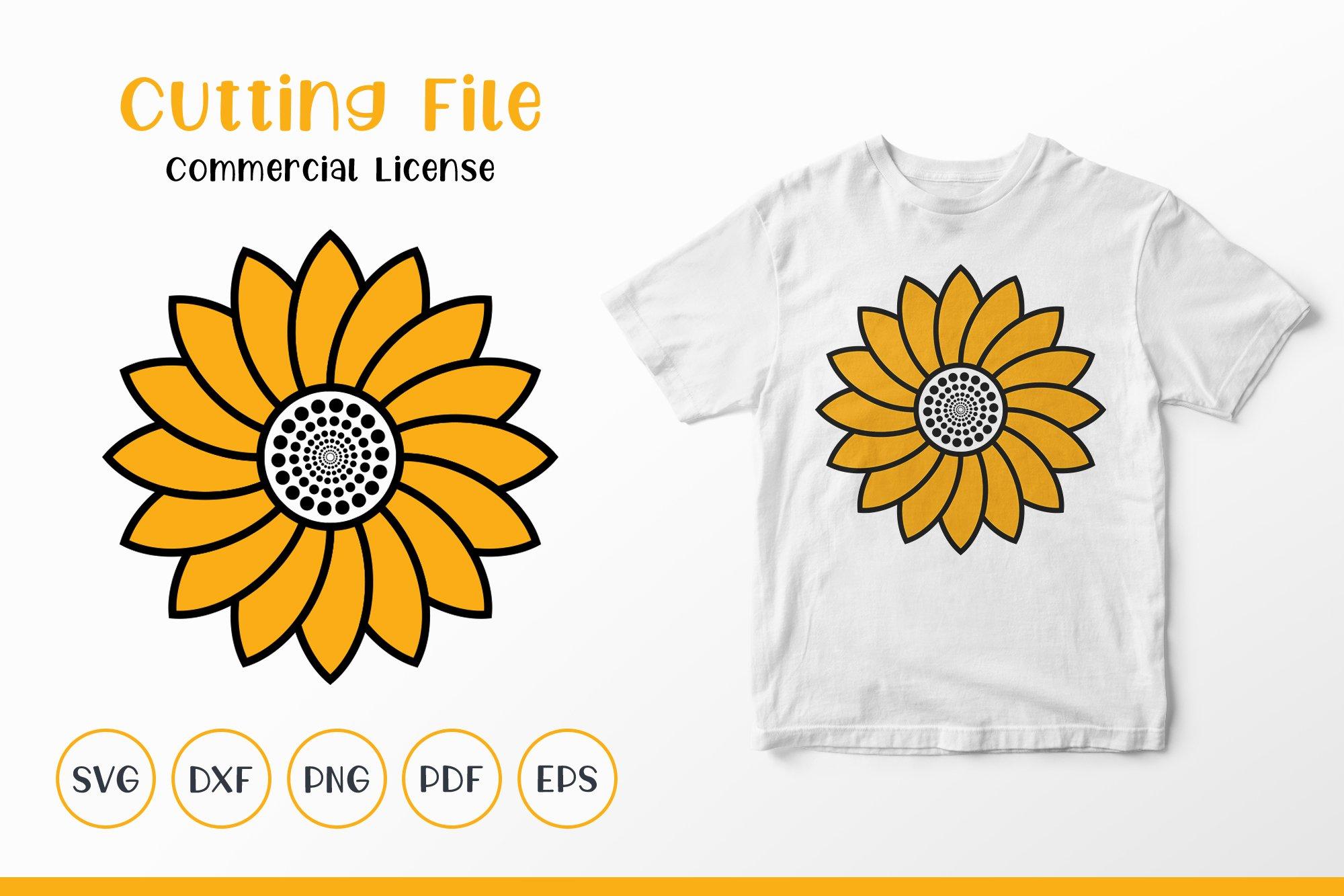 Sunflower SVG, Sunflower Clipart, Sunflower Monogram SVG example image 1