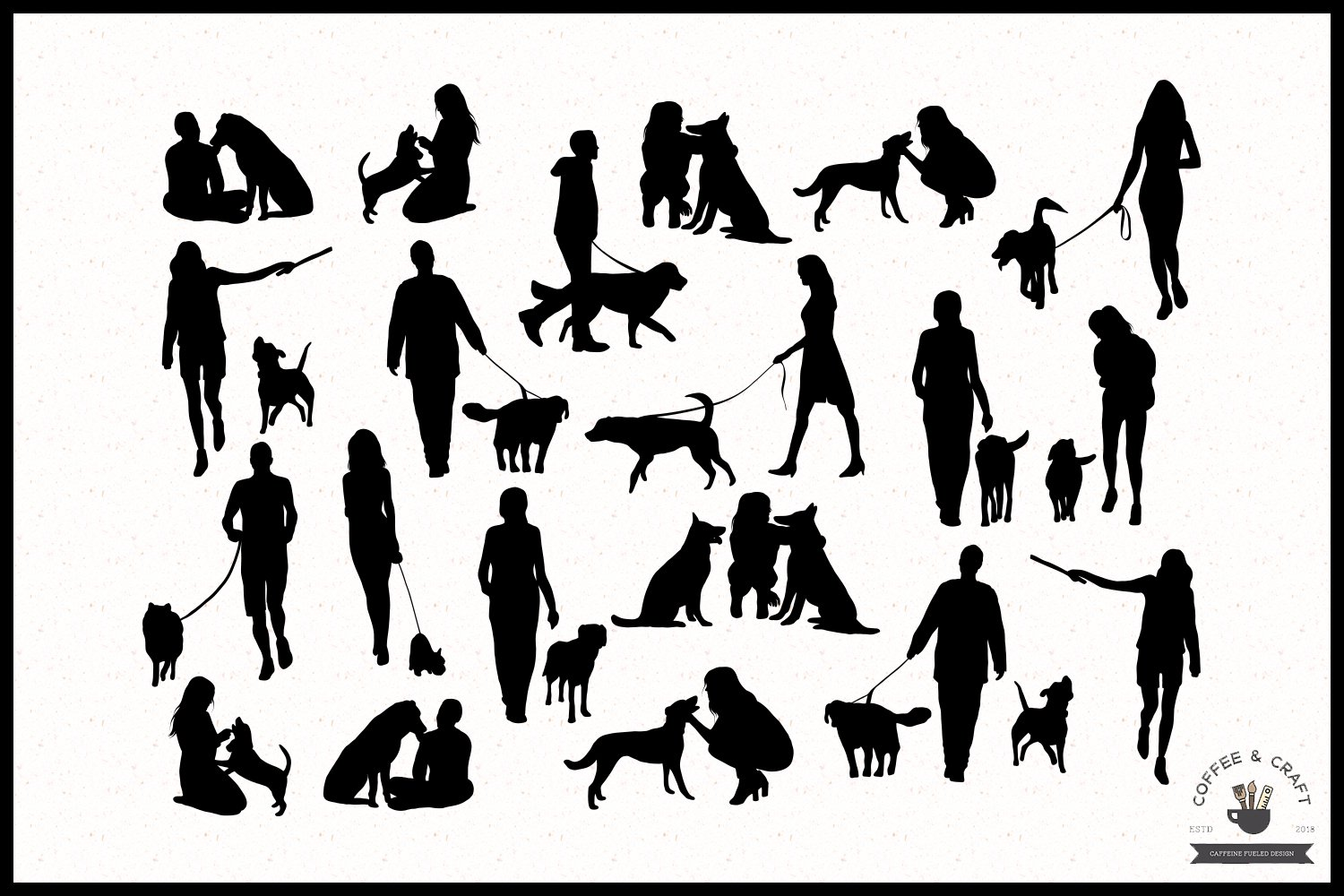 Dog owners clipart example image 2
