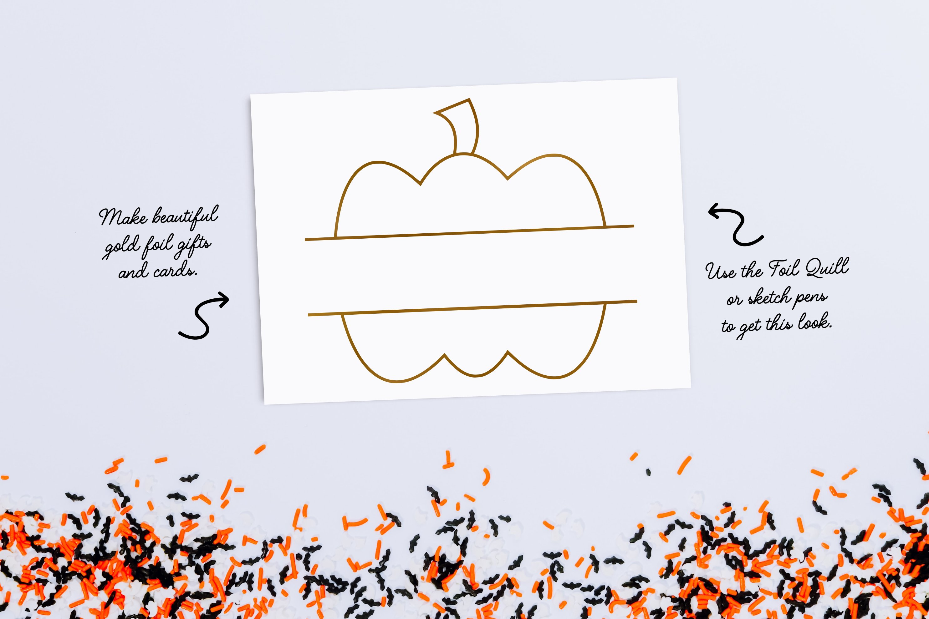 Pumpkin Split Monogram Single Line Design for Foil Quill example image 2