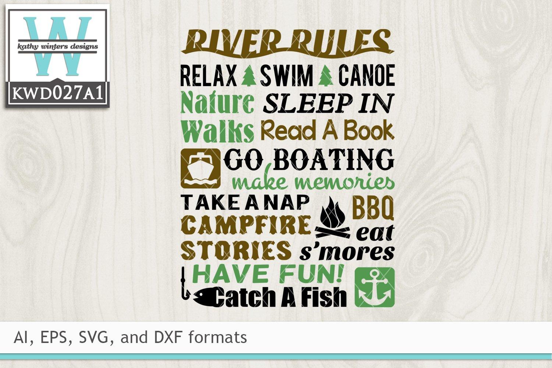 Outdoor Svg River Rules 520246 Cut Files Design Bundles
