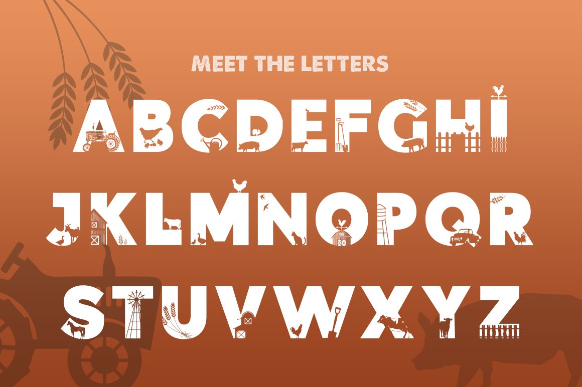 On the Farm Font example image 2