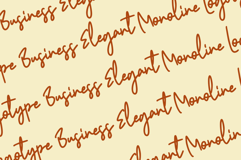 Shestopal Monoline Signature example image 7