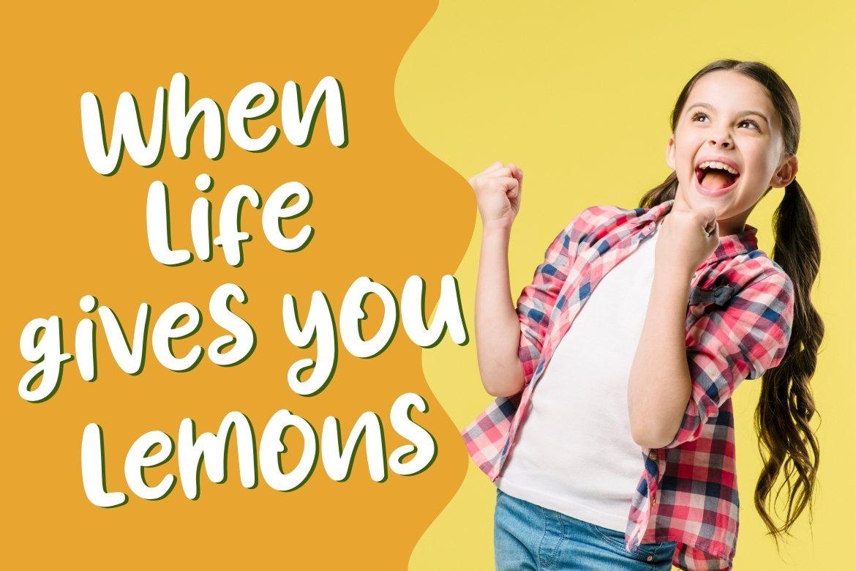 Lemony Fun Handwritten example image 7