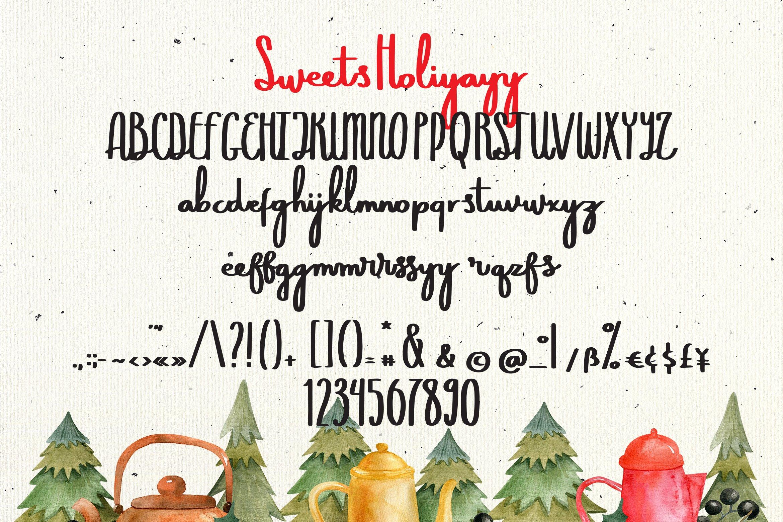 Sweets Holiyayy - Christmas Font example image 7