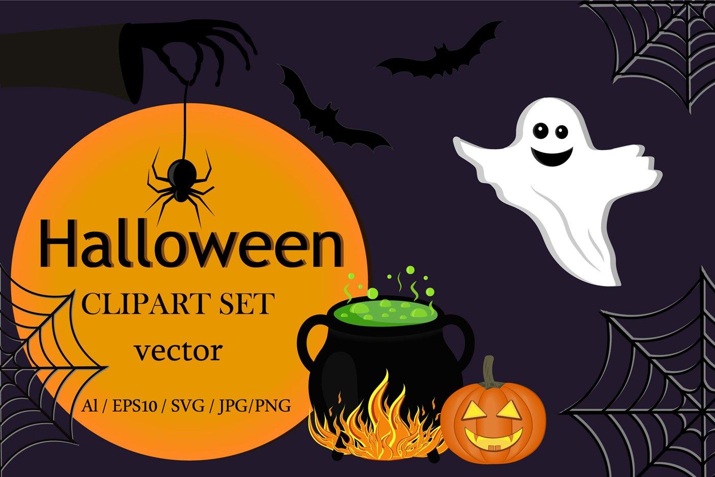 Download Clipart Set Halloween 972588 Illustrations Design Bundles