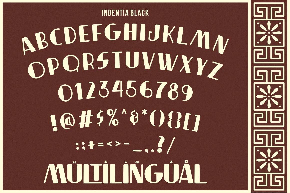 Indentia - Art Deco Typeface example image 3