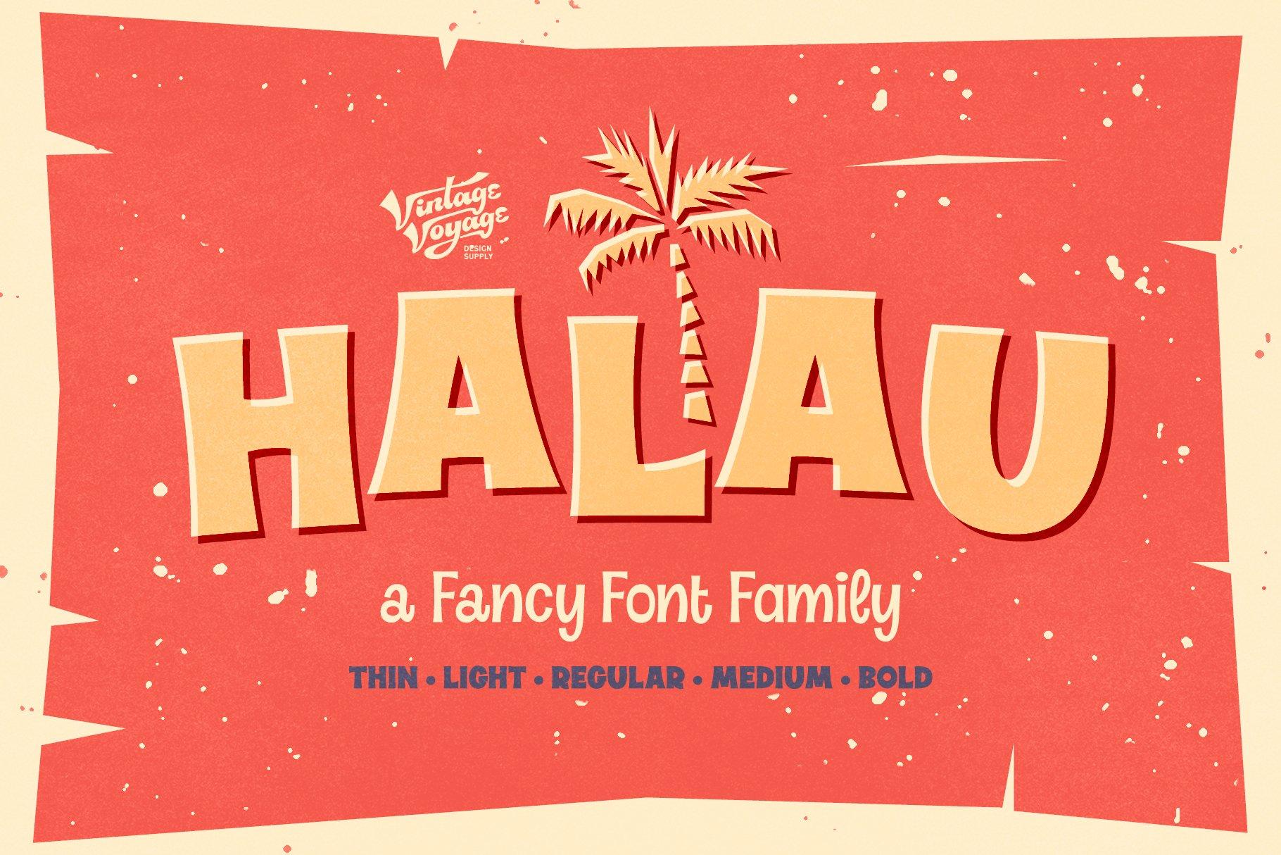 Halau Font Family example image 1