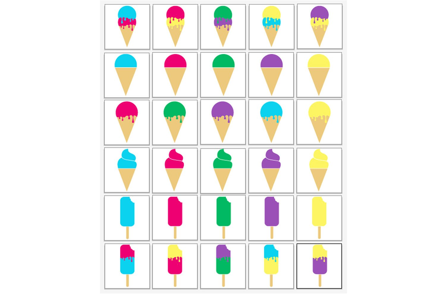 Ice Cream SVG Bundle - Ice Cream Cone & Popsicle Clipart example image 2