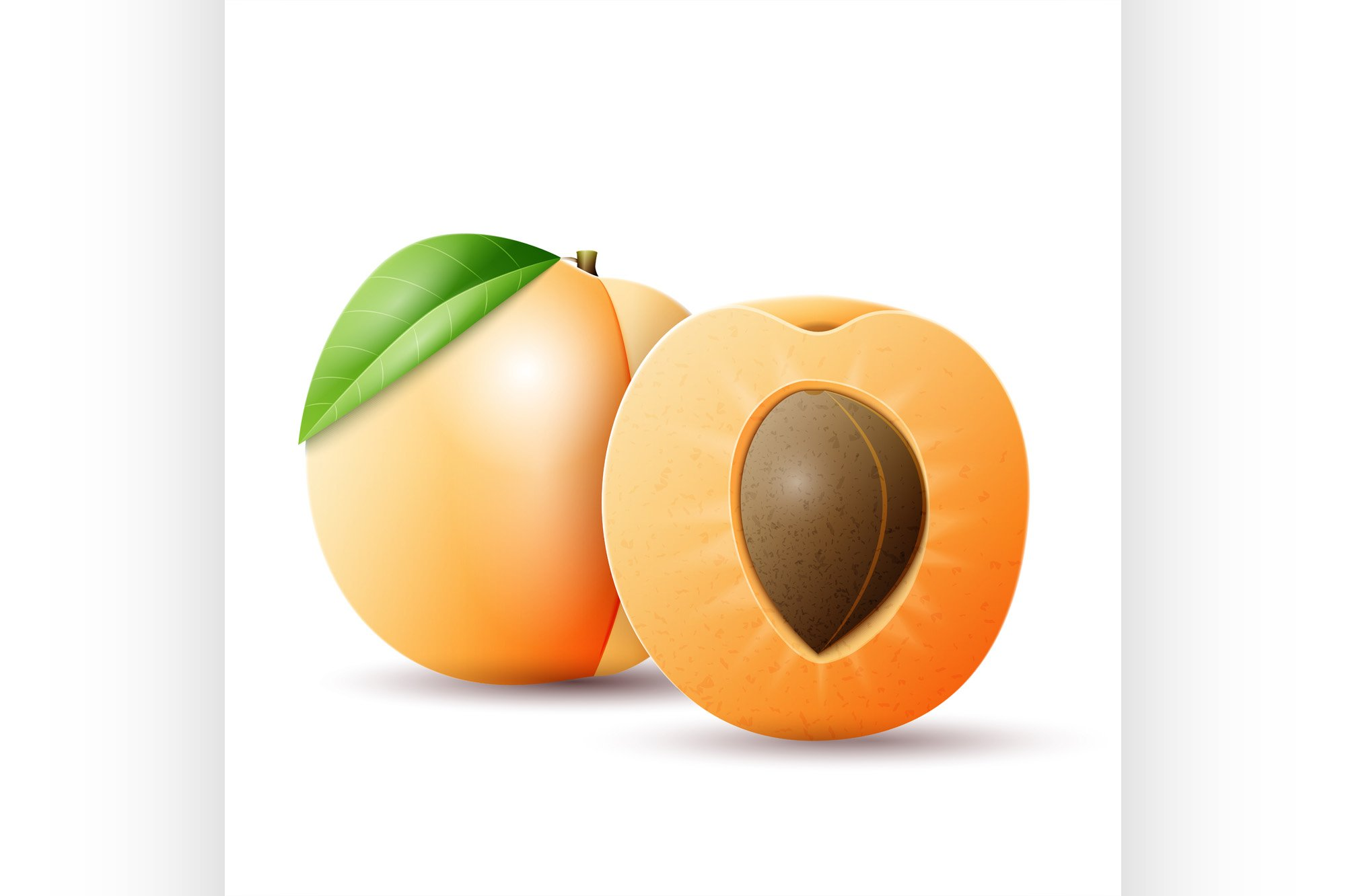 Whole and half apricot example image 1