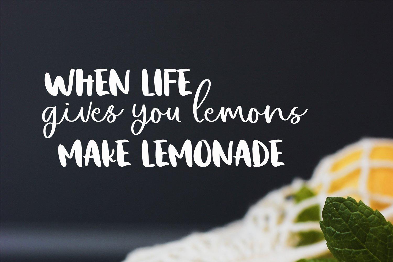 Lemon Night Font Duo example image 2