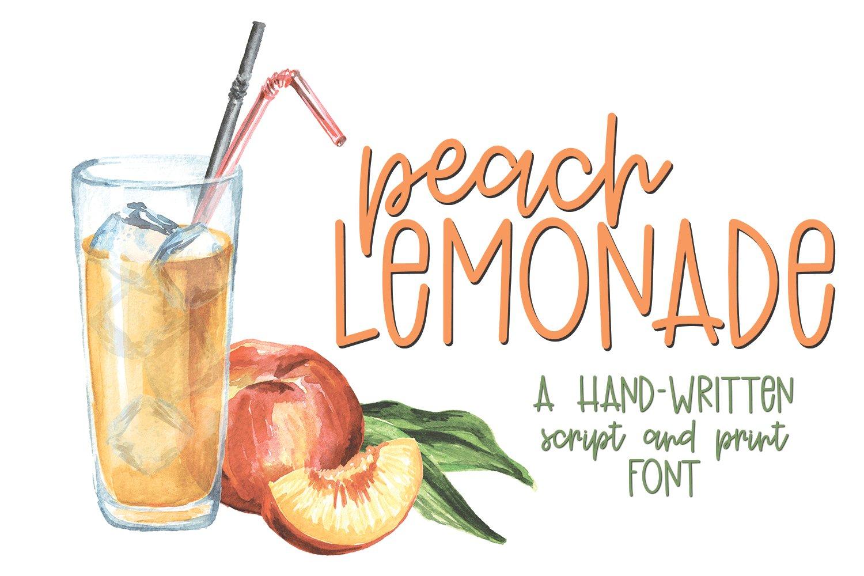 Peach Lemonade - A Playful Hand-Written Script and Print Fon example image 1