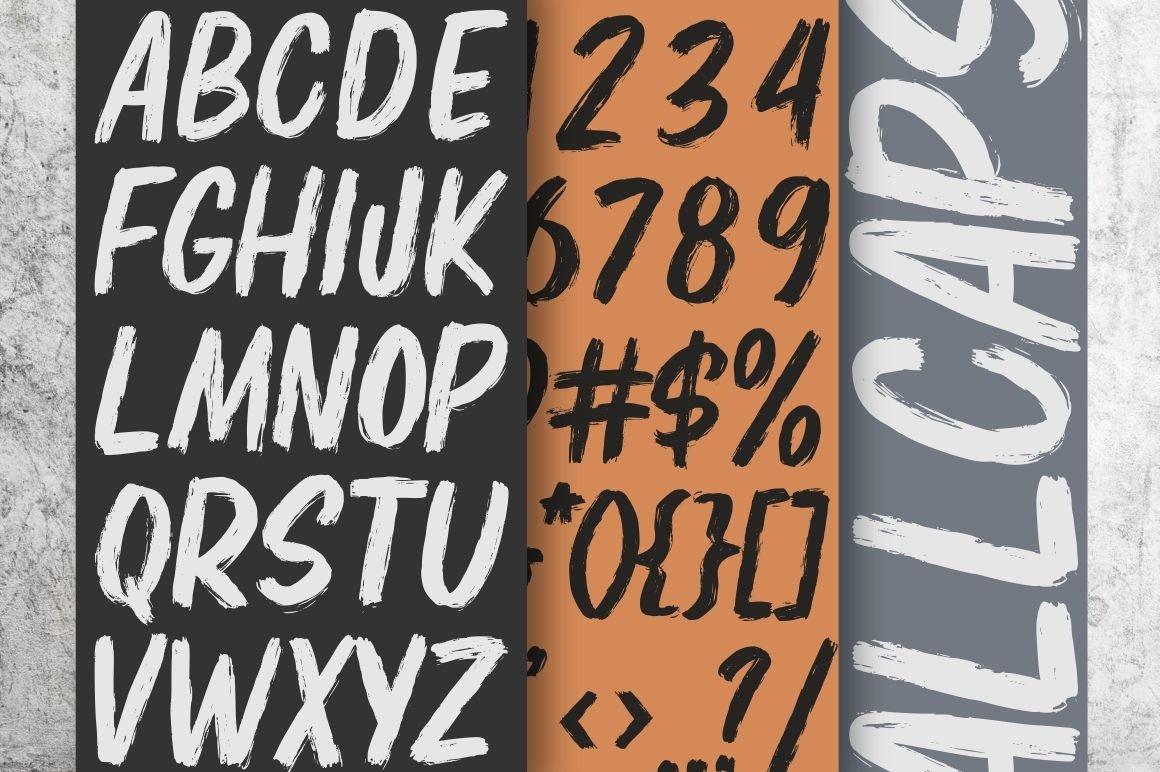 Elbrush - New Brush Font example image 8