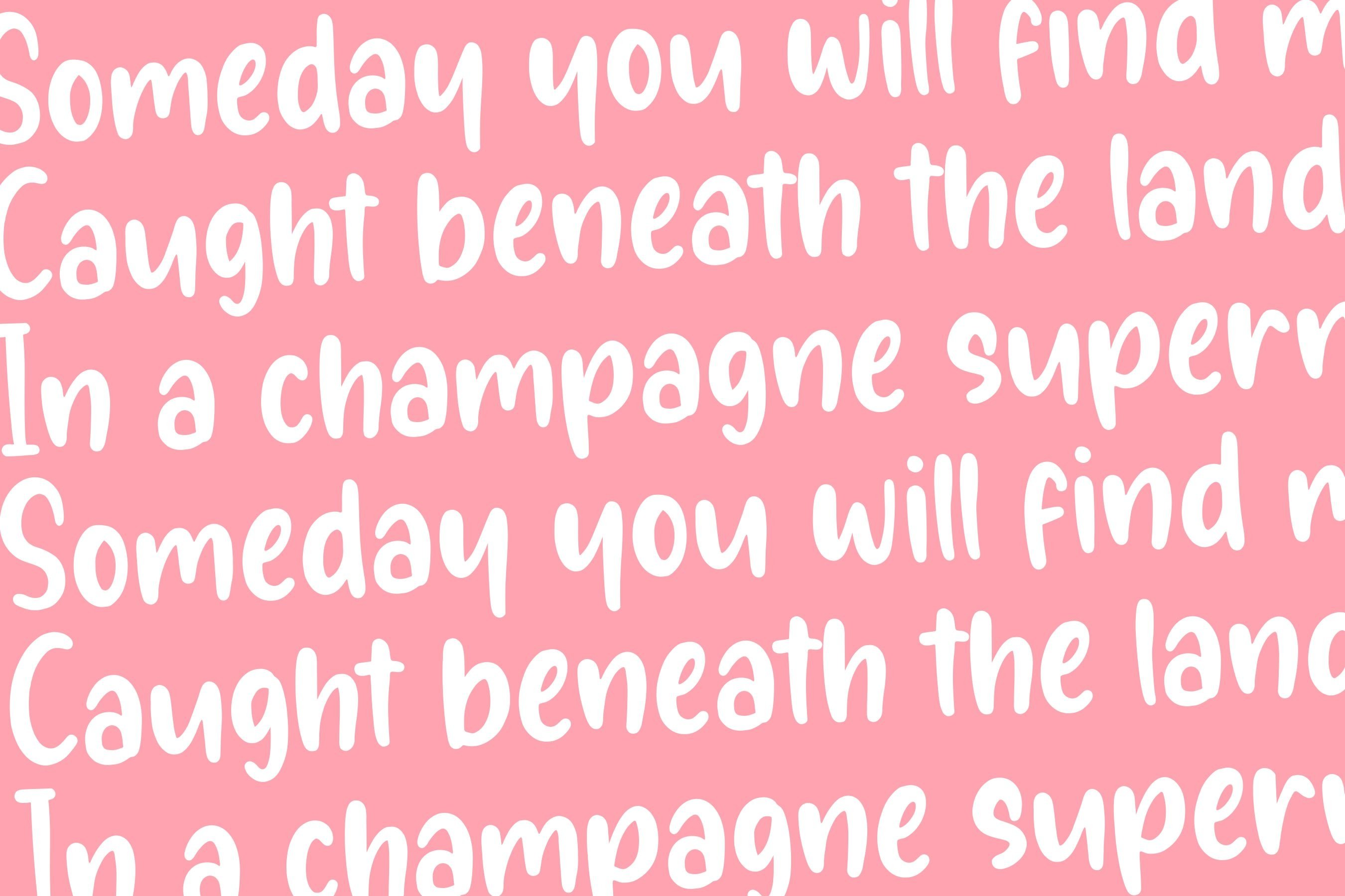 Sunglory Lovely Handwritten Font example image 6