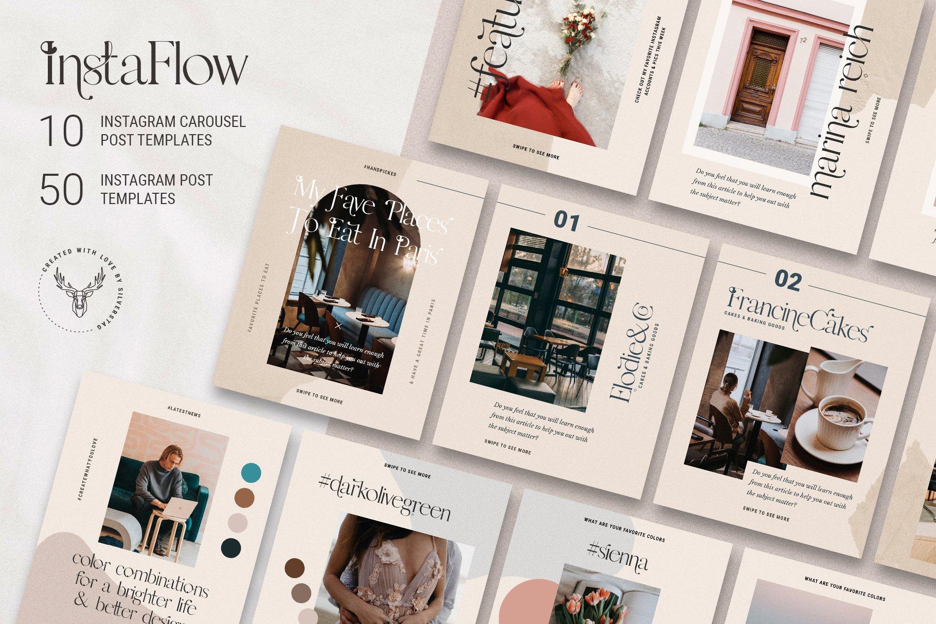 #InstaFlow Carousel Posts & Stories example image 4