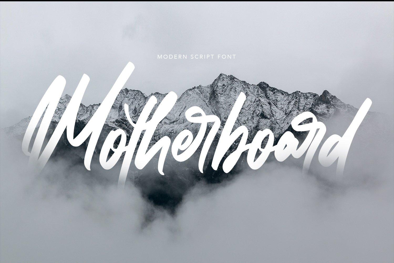 Motherboard - Modern Script Font example image 1