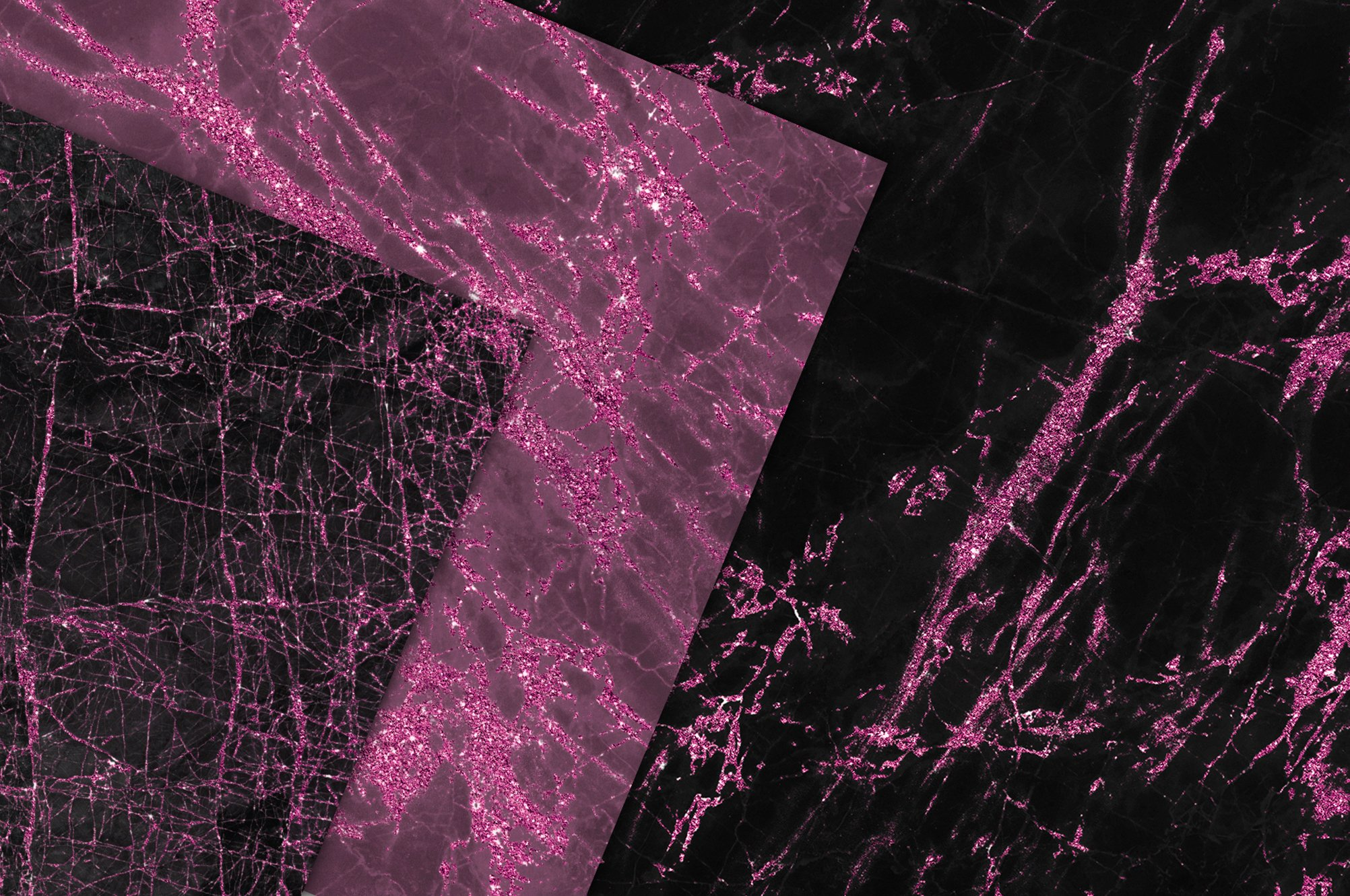 Valentine's Day Pink and Black Marble Textures example image 2