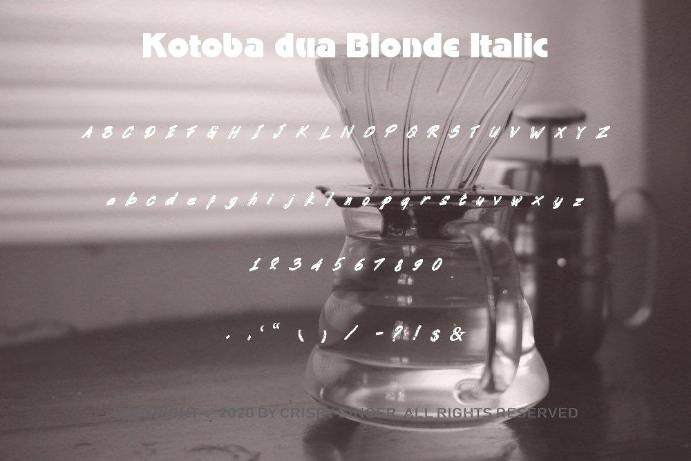 Kotoba Dua - 22 Font styles and 150 Swashes example image 6