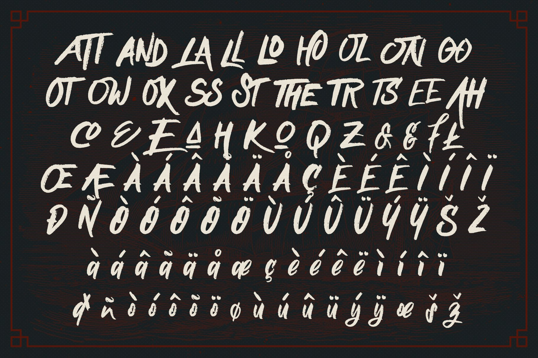 Nielsen Rough Typeface example image 4