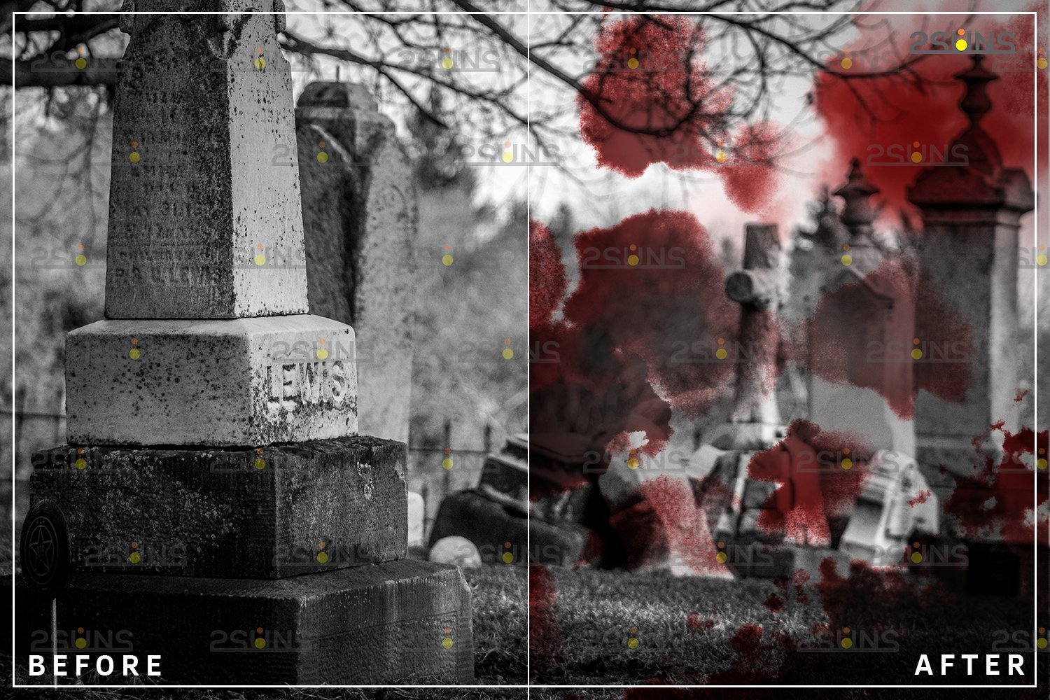Blood Photo Overlay, Halloween overlay, blood splatter example image 8