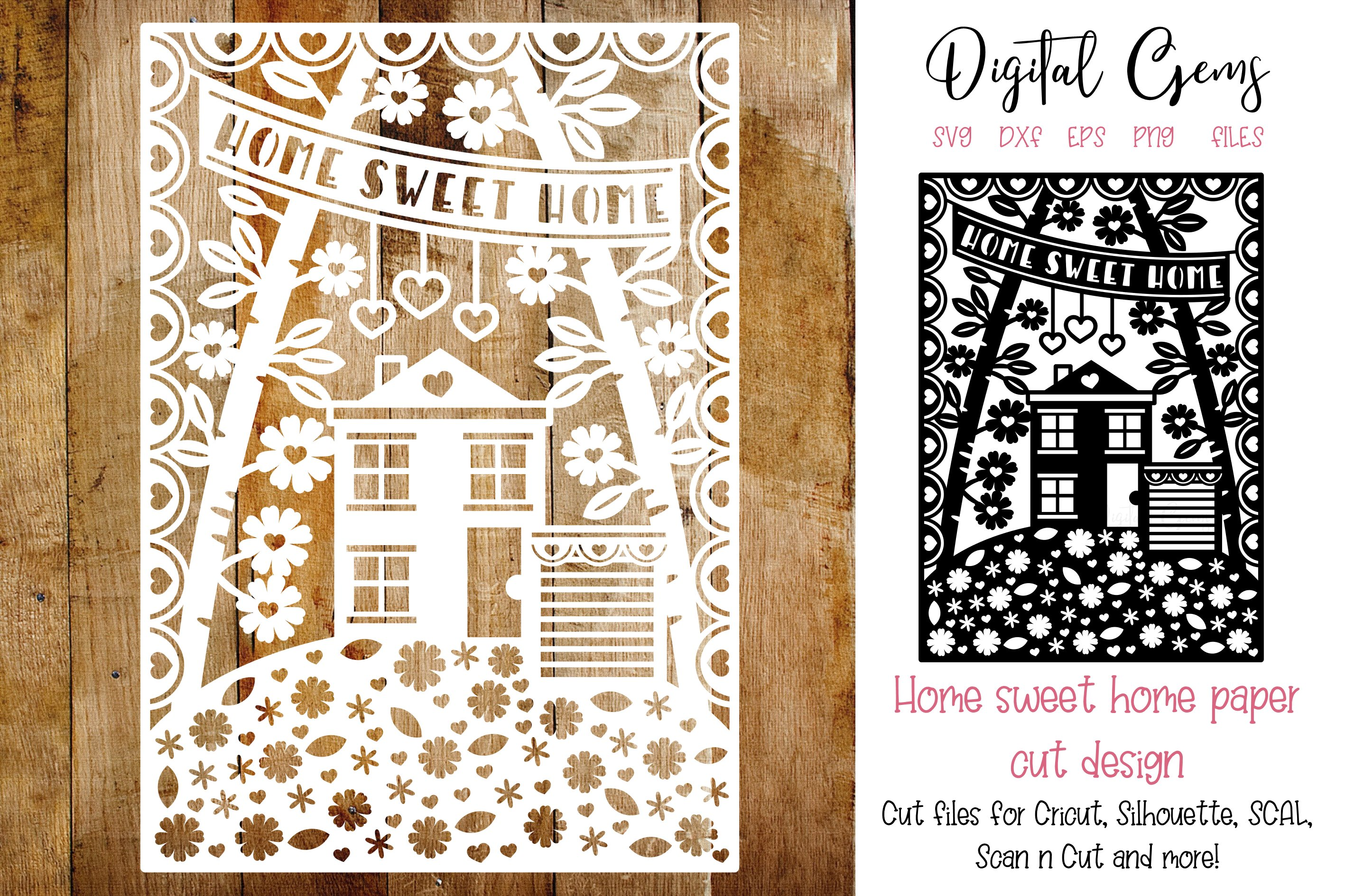 19+ Home Sweet Home Paper Cut Svg / Dxf / Eps Files SVG