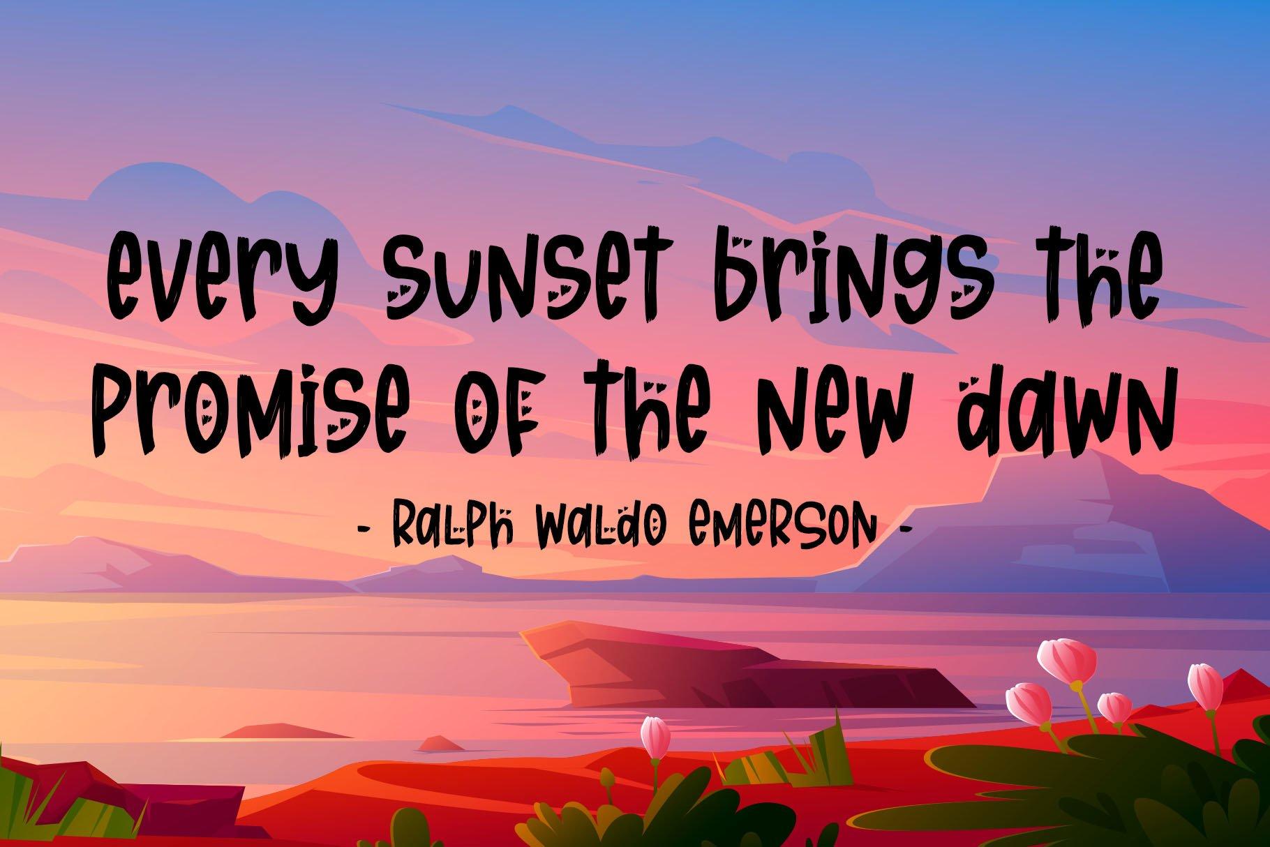 Sunset Story - Handwritten Font example image 6