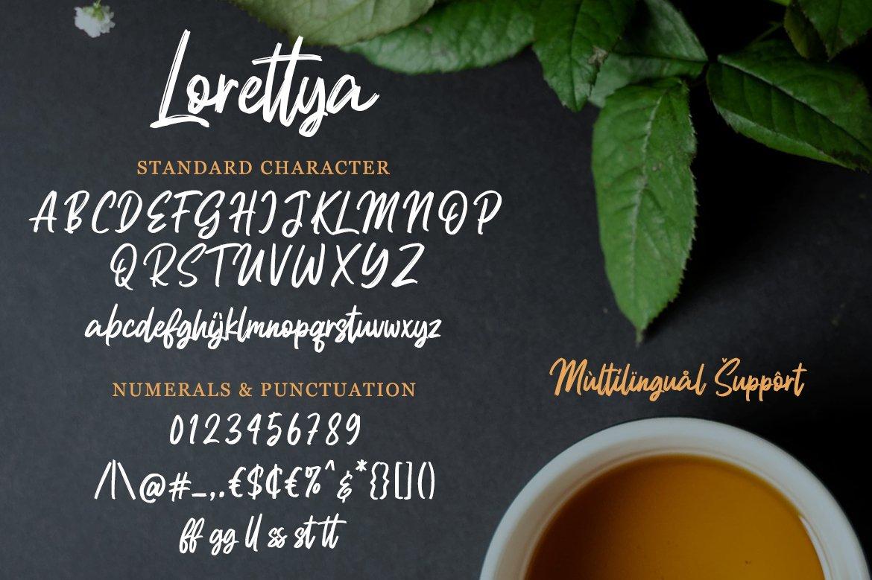 Lorettya - Brush Font example image 8