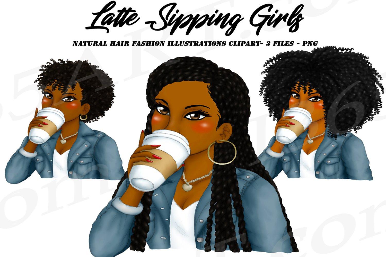 Girl afro clipart black Black Girl