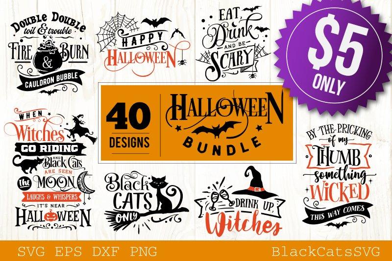 Halloween SVG bundle 40 designs vol 2