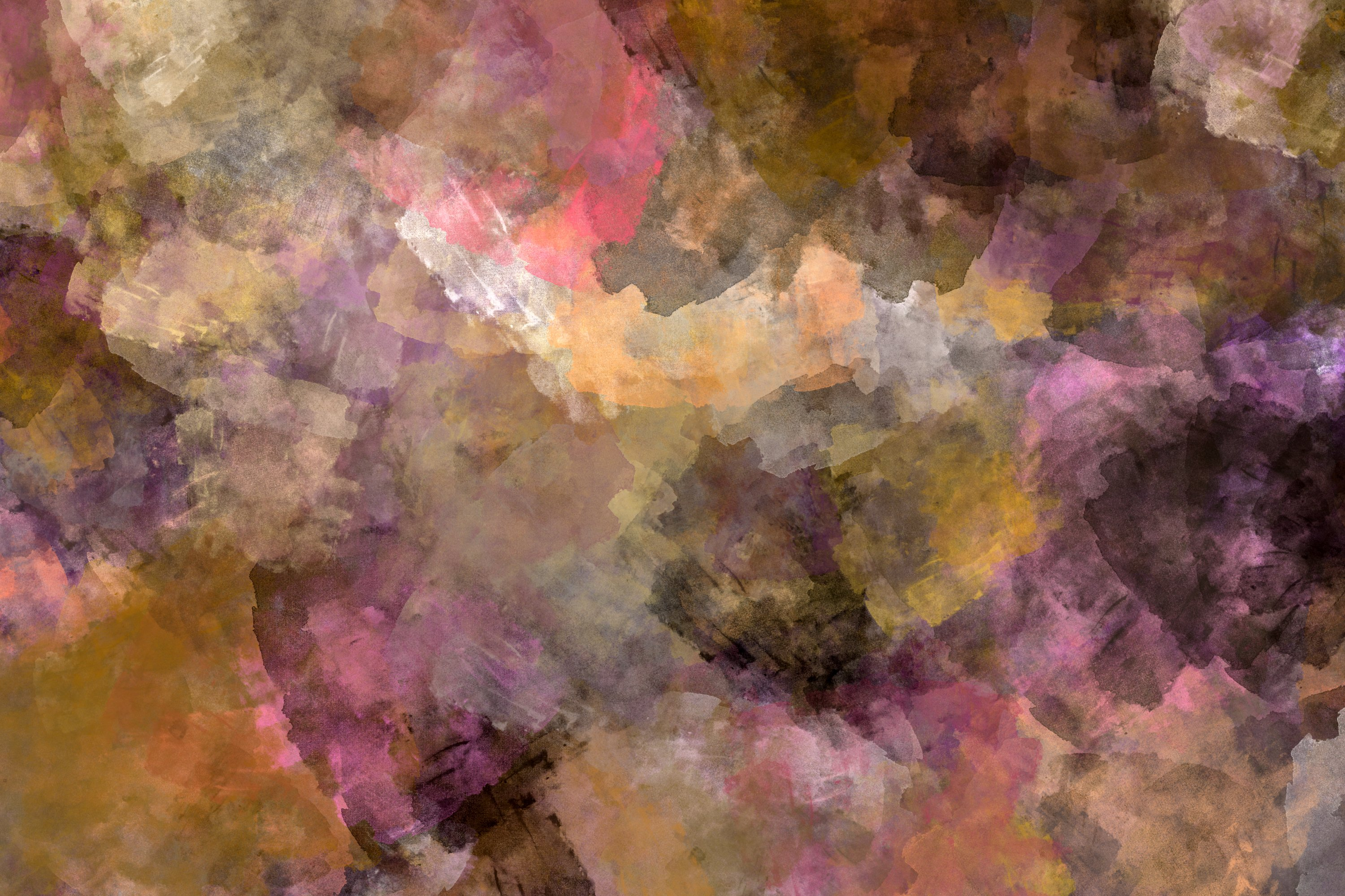 10 Grunge Watercolor Washes Textures example image 2