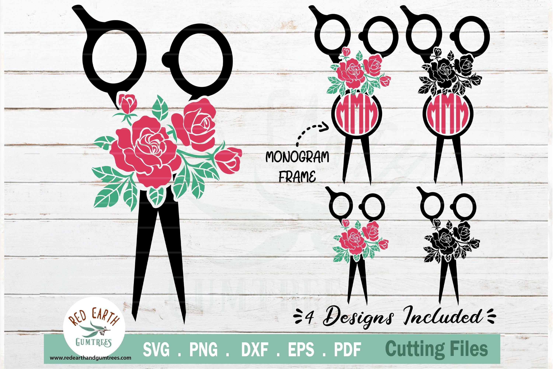 Download Floral Hairstylist Barber Svg Rose Hairdresser Svg Dxf Eps 769099 Cut Files Design Bundles
