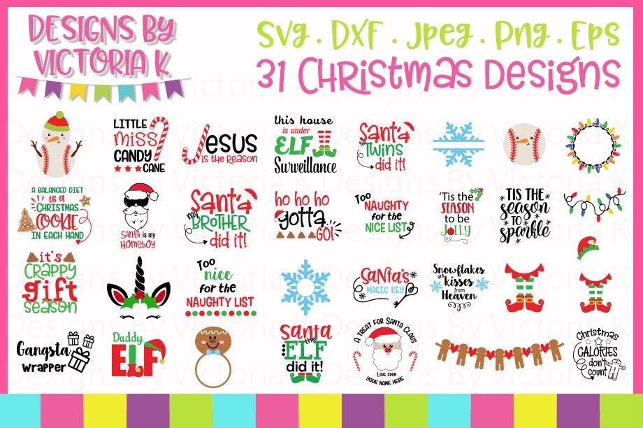 Christmas Bundle, SVG, DXF, EPS PNG Cut Files