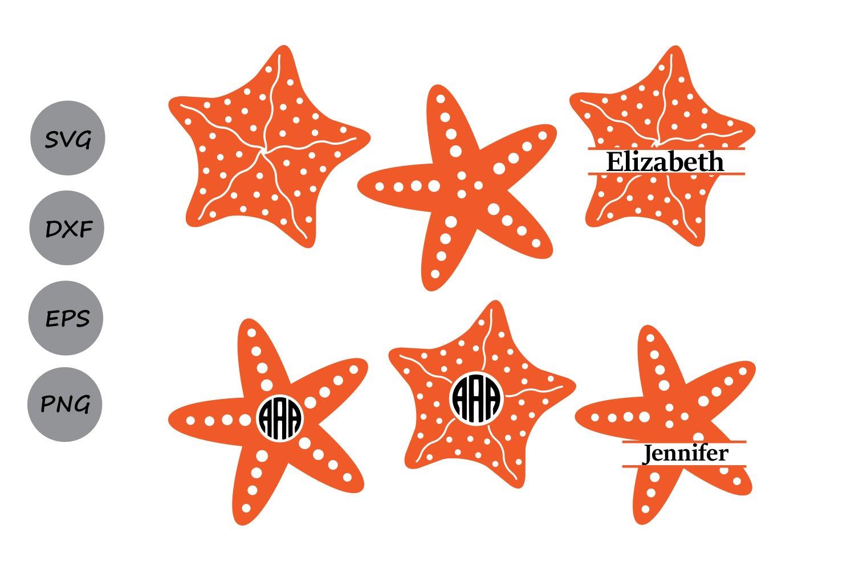 Starfish Svg Starfish Monogram Svg Star Fish Svg Cut Files 87439 Cut Files Design Bundles