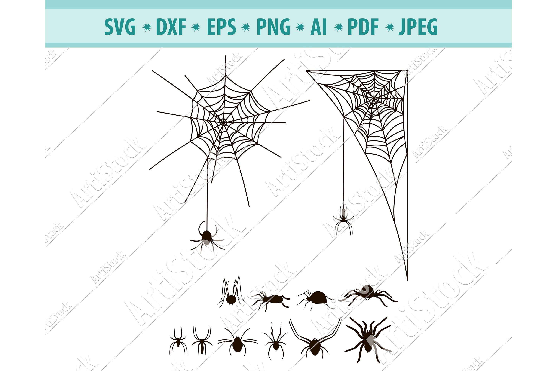 Spider Svg Bundle Halloween Web Svg Cobweb Dxf Png Eps 415506 Svgs Design Bundles