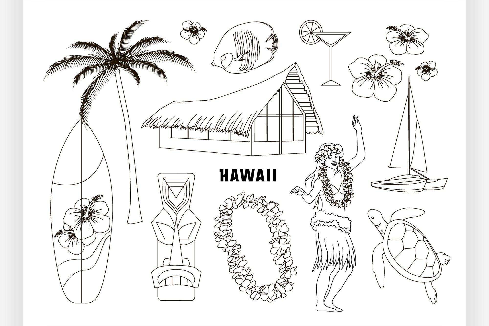 Hawaiian, Hawaii Set example image 1